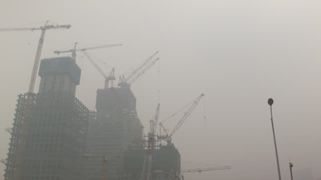 beijing in the smog - air pollution stock videos & royalty-free footage
