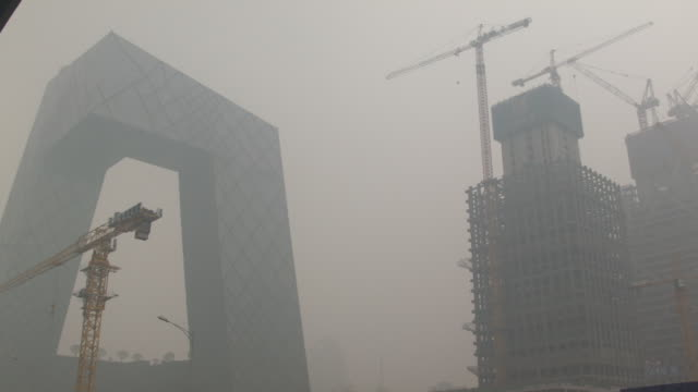 beijing in the smog - pollution mask stock videos & royalty-free footage