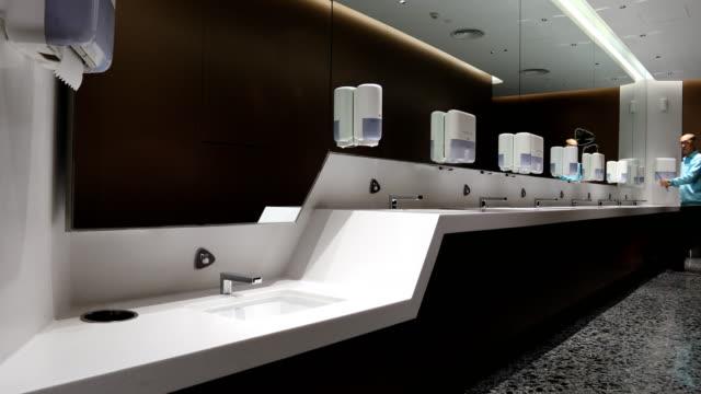 beijing international airport - bathroom stock videos & royalty-free footage