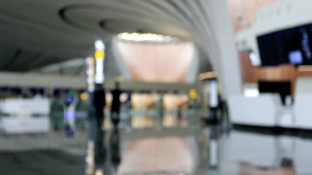 beijing international airport - flugpassagier stock-videos und b-roll-filmmaterial