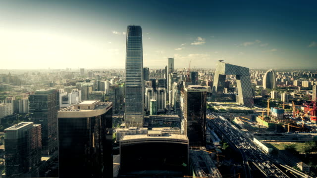 beijing international trade center,china - beijing stock videos & royalty-free footage