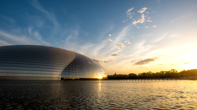 T/L WS Beijing National Grand Theatre at sunset