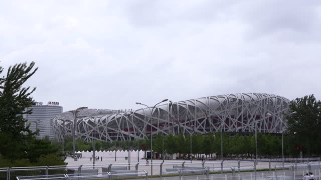 beijing national stadium at the olympic green / beijing, china - civilian stock videos & royalty-free footage