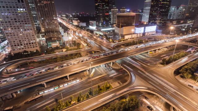 T/L WS パン夜の北京路交差点