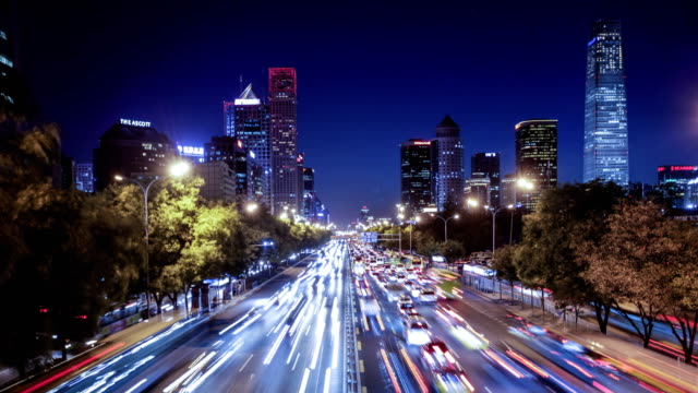 beijing skyline - diminishing perspective stock videos & royalty-free footage