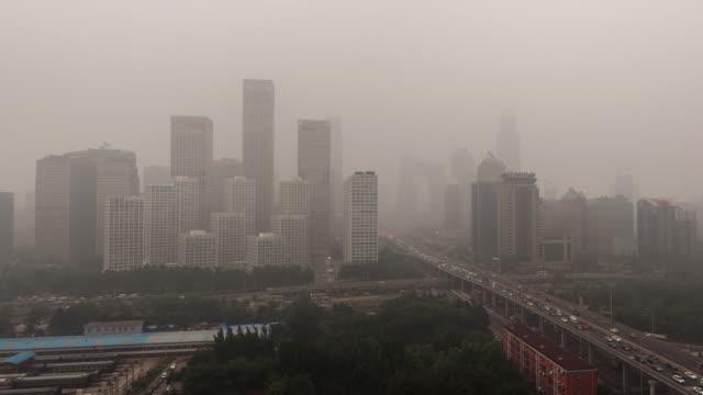 t/l ws ha zo 北京のスモッグや大気汚染 - スモッグ点の映像素材/bロール