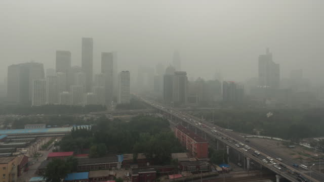 t/l ws ha pan beijing smog, city in air pollution - carbon dioxide stock videos & royalty-free footage