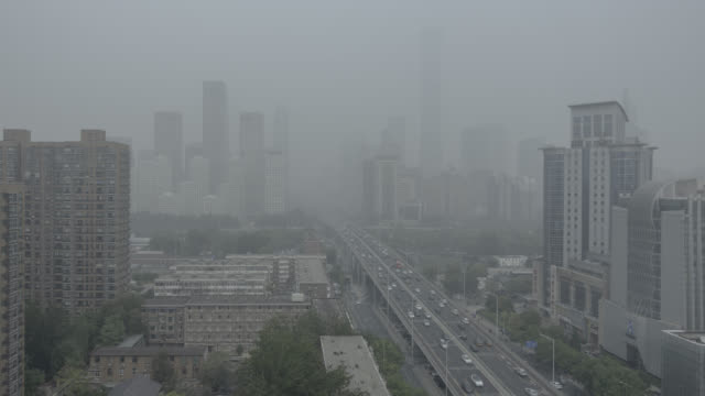 beijing smog - traffic time lapse stock videos & royalty-free footage