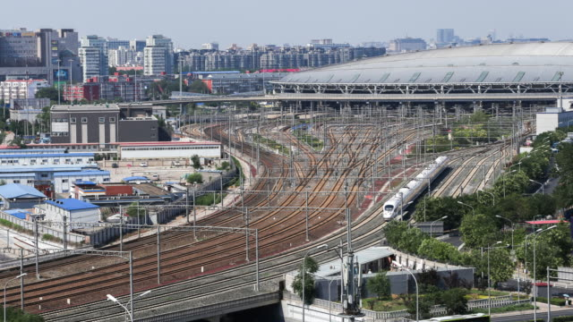 beijing south railway station time lapse