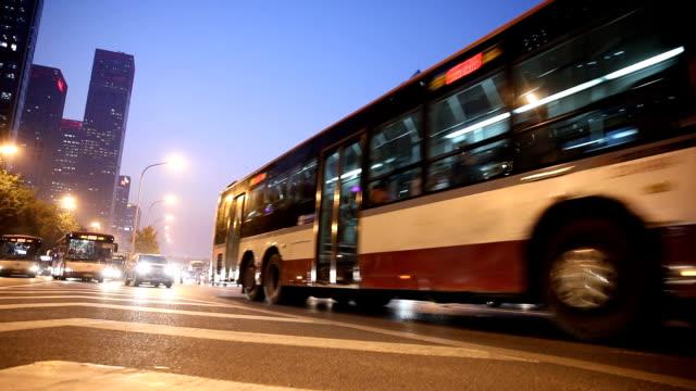 beijing street traffic - bus stock videos & royalty-free footage