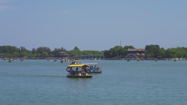 beijing summer palace kunming and 17-hole bridge - summer palace beijing stock videos & royalty-free footage