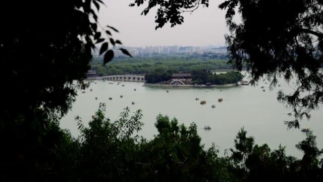 beijing summer palace kunming - summer palace beijing stock videos & royalty-free footage