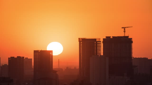 t/l beijing sunrise - silhouette stock videos & royalty-free footage