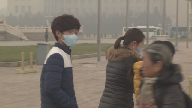 beijing - pollution mask stock videos & royalty-free footage