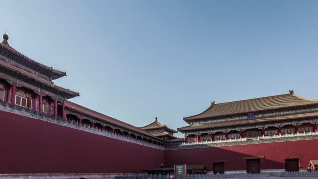 北京、中国-mar 21,2016 :「パンニングの眺めウーメンスクエア(一部)は、紫禁城、北京、中国 - tiananmen square点の映像素材/bロール