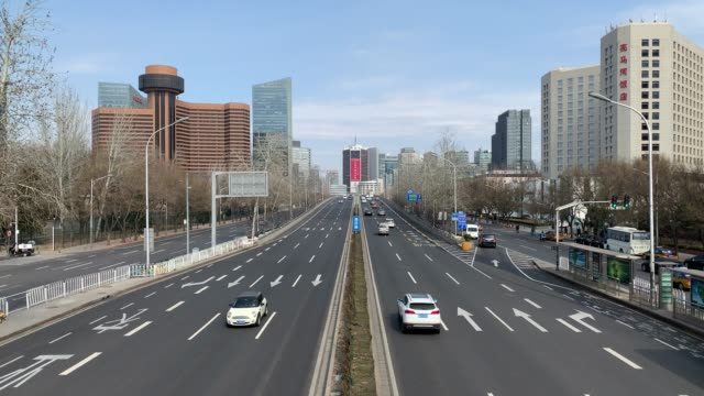 beijing's main road to cbd - beijing stock videos & royalty-free footage