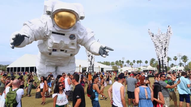 ATMOSPHERE Being Human Demonstration and Crowd at 2014 Coachella Valley Music And Arts Festival Weekend 2 on April 18 2014 in Indio California