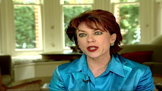 being the wife of the prime minister england london int kathy lette interview sot - kathy lette stock videos & royalty-free footage