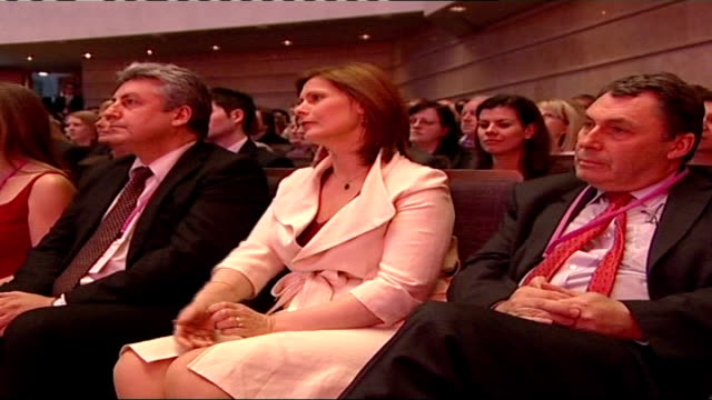 being the wife of the prime minister tx bridgewater hall labour party conference int sarah brown sitting at press conference sarah brown onto stage... - bridgewater hall stock videos & royalty-free footage