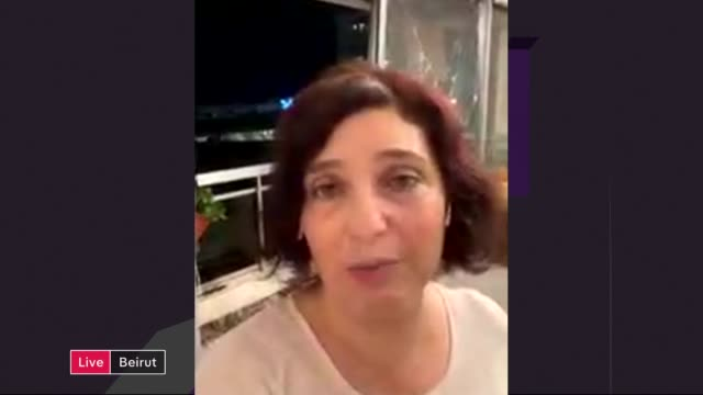 city of beirut suffers huge explosion, with more than 60 dead and thousands injured; england: london: gir: int dr maha yahya live 2-way interview sot - krishnan guru murthy stock videos & royalty-free footage