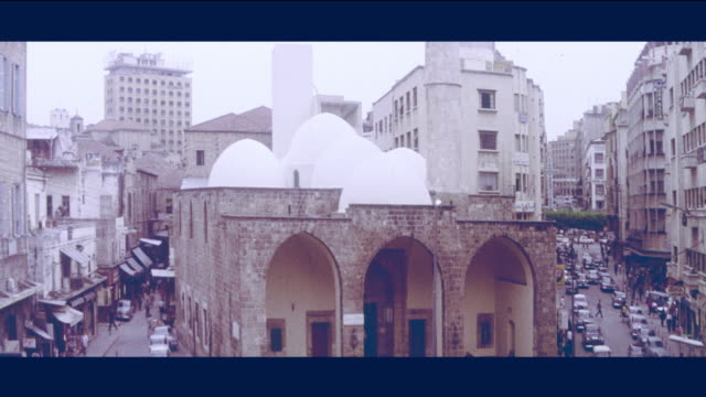 1968 beirut - mosque and church - beirut stock videos & royalty-free footage