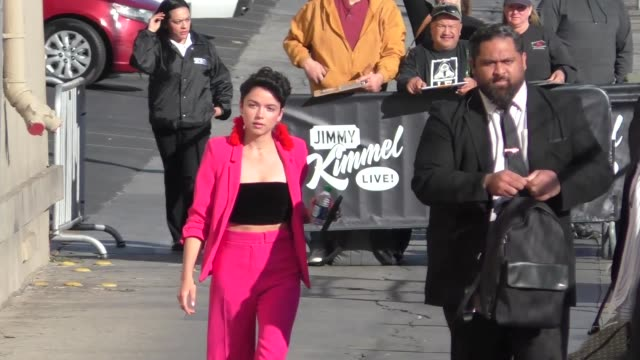 Bekah Martinez from The Bachelor appears on Jimmy Kimmel Live after her mother incorrectly reported her missing in Hollywood in Celebrity Sightings...