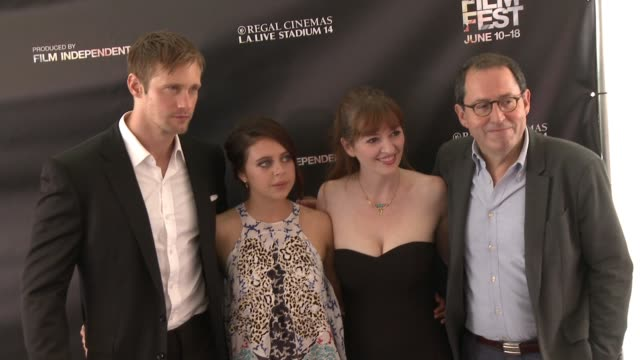 Bel Powley Alexander Skarsgård Marielle Heller and Jorma Taccone at the 2015 Los Angeles Film Festival Premiere of Diary of A Teenage Girl at Regal...
