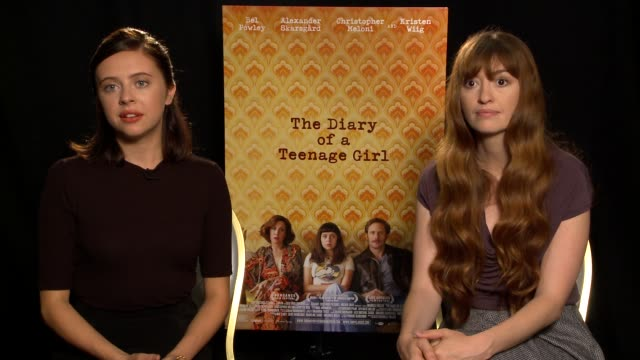 INTERVIEW Bel Powley Marielle Heller on their teenage years virginity would they be friends with Bel's character at 'The Diary of a Teenage Girl' Los...