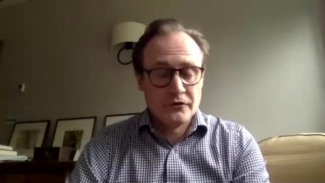 belarus intercepts international ryanair flight to arrest dissident journalist; england: int tom tugendhat mp interview via internet sot - standing out from the crowd stock videos & royalty-free footage