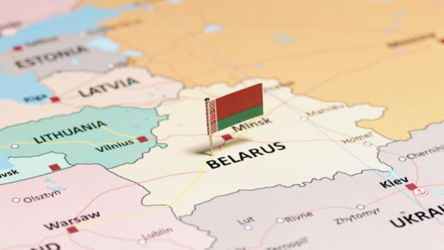 belarus with national flag - map stock videos & royalty-free footage