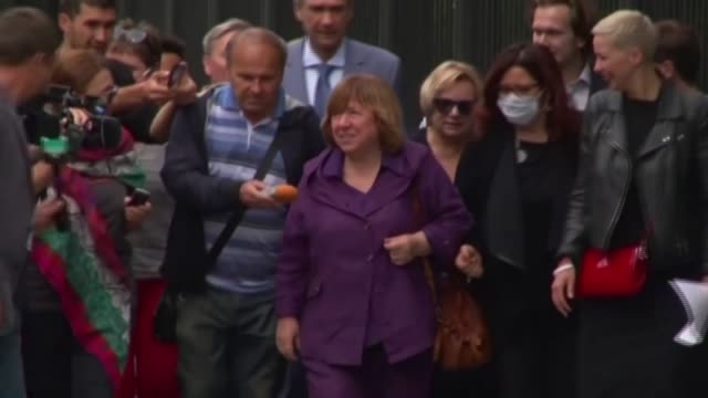 belarusian writer svetlana alexievich has left the country for treatment in germany, according to reports from a friend, after the nobel literature... - nobel prize in literature stock videos & royalty-free footage