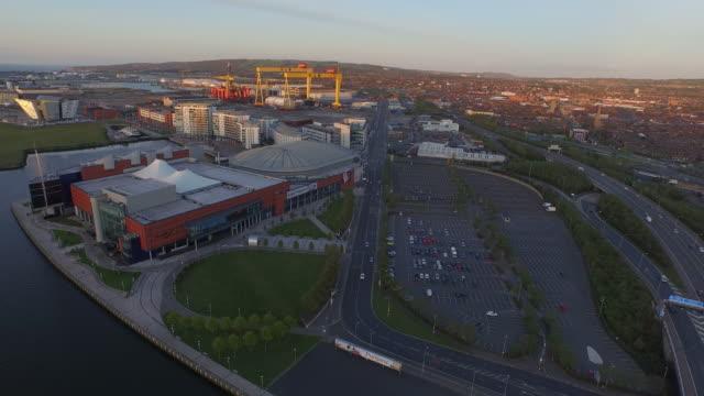 belfast aerial - northern ireland stock videos & royalty-free footage