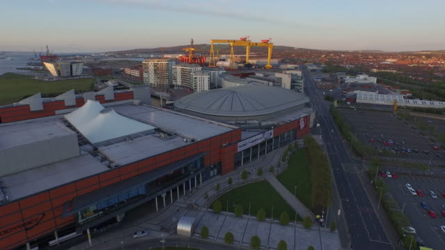 belfast aerial - belfast stock videos & royalty-free footage