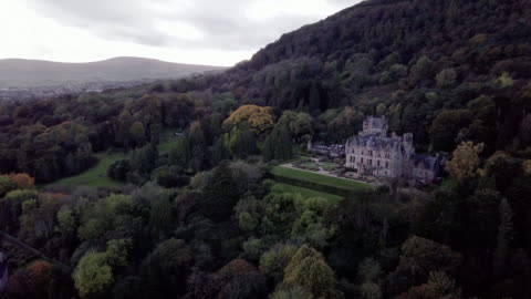 belfast castle on a stormy afternoon. - northern ireland stock videos & royalty-free footage