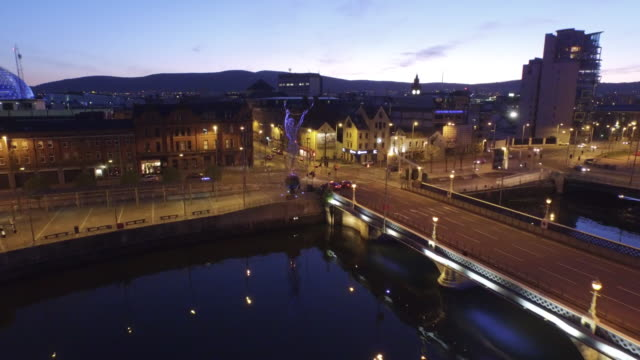 Belfast City Aerial River Lagan