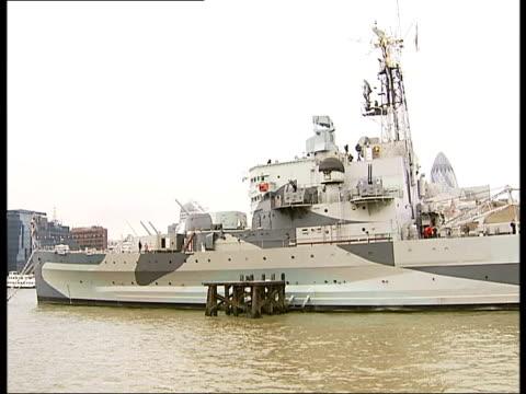 World War II war drama reenacted PAN along the length of HMS Belfast