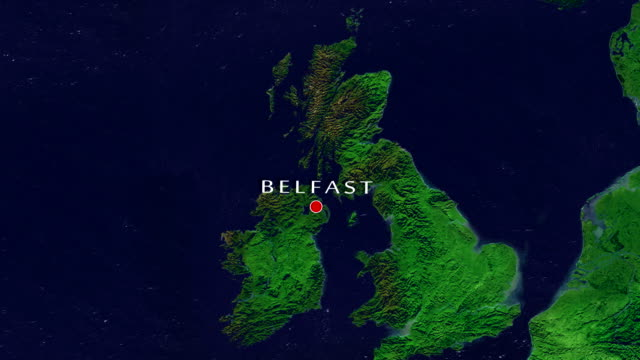 belfast zoom in - belfast stock videos & royalty-free footage