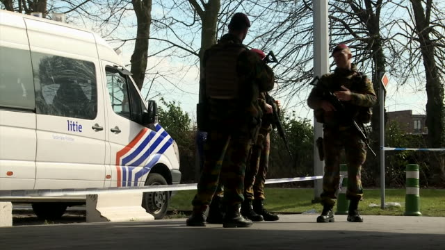 Belgian armed forces and police providing extra security in the aftermath of the Brussels terror attacks