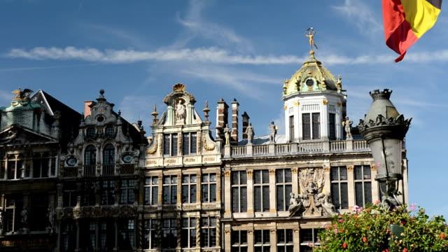 Drapeau belge légers à la Grand Place de Bruxelles