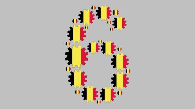 stockvideo's en b-roll-footage met belgische nummer zes - getal 6