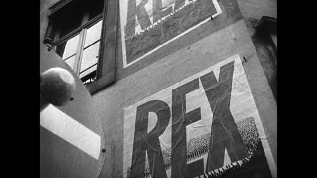 belgian peasants w/ brooms la ms poster 'rex' la cu politician leon degrelle speaking passionately cu poster 'rex' nazi antifrance brussels - 1906 stock videos and b-roll footage