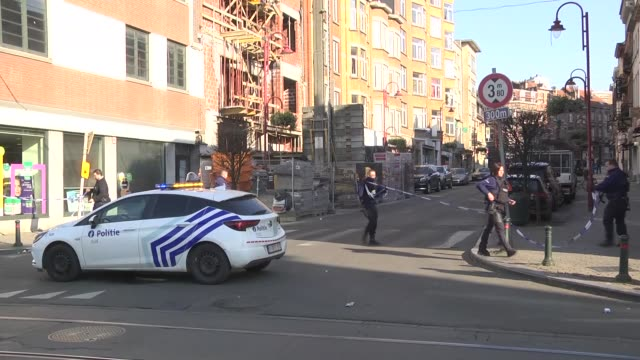 belgian police locked down a part of a suburb in brussels thursday amid media reports that an armed man or men could be on the loose a large number... - capital region stock videos & royalty-free footage