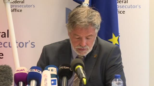 belgian prosecutors say an attack that killed two policewomen and a male bystander in the eastern belgian city of liege on tuesday amounts to... - procuratore video stock e b–roll
