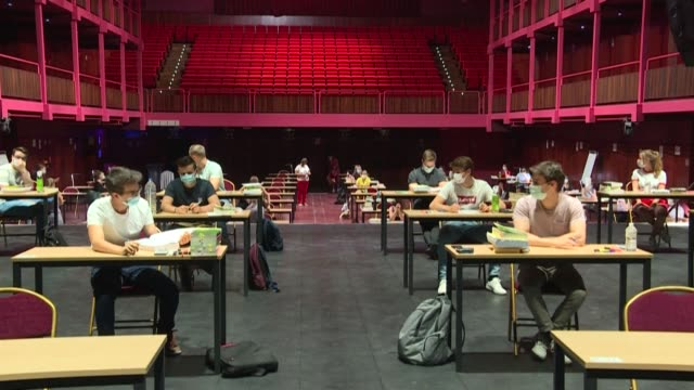 belgian university students are taking their exams in unusual venues allowing necessary social distancing - belgium stock videos & royalty-free footage