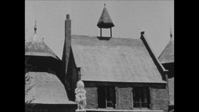 stockvideo's en b-roll-footage met belgian village montage at the 1933 chicago world's fair - 1933