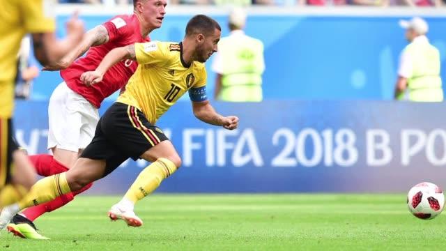 belgica consiguio el sabado su mejor participacion historica en los mundiales supero a inglaterra por 2 a 0 y se quedo con el tercer puesto de... - fifa world cup 2018 stock videos & royalty-free footage