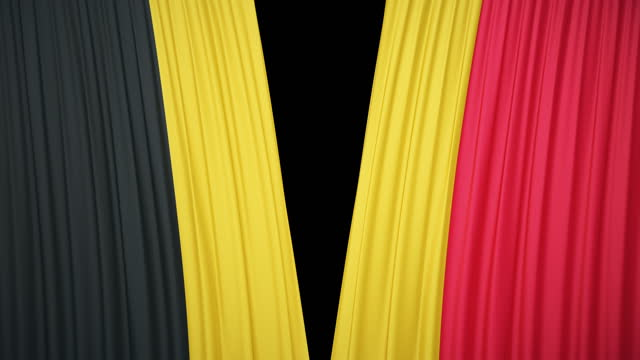 belgium flag curtain cloth - ceremony stock videos & royalty-free footage