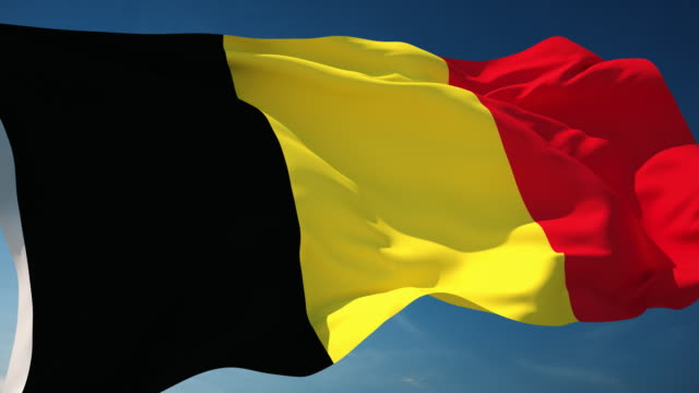 4K Belgium Flag - Loopable