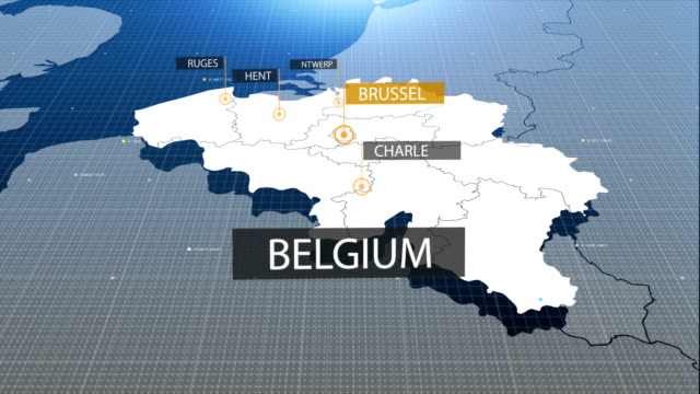 belgium map - zoom out stock videos & royalty-free footage