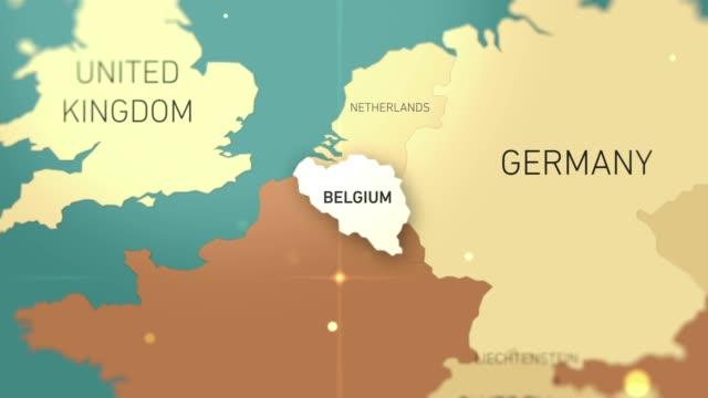 stockvideo's en b-roll-footage met belgië op wereld kaart stockvideo - europese cultuur